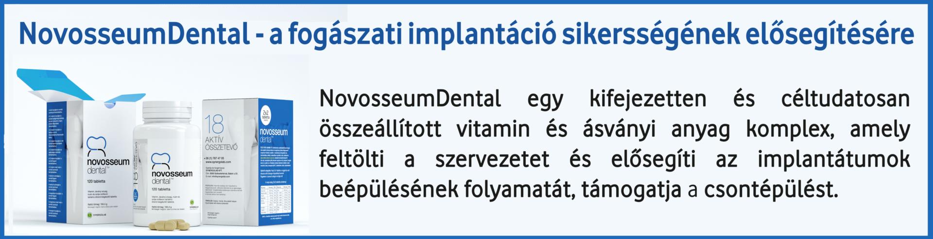 NOD Novosseum Dental a fogászati implantációt elősegítő vitamin és ásványi anyag komplex